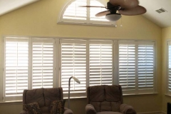 Sunroom Shutters with Contoured arch-Collierville TN